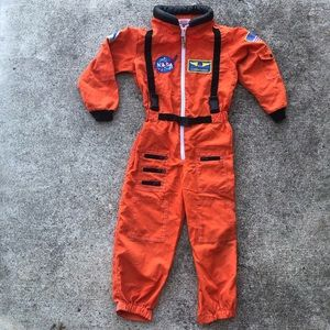 NASA Orange Astronaut Jumpsuit Costume Size 6 - 8
